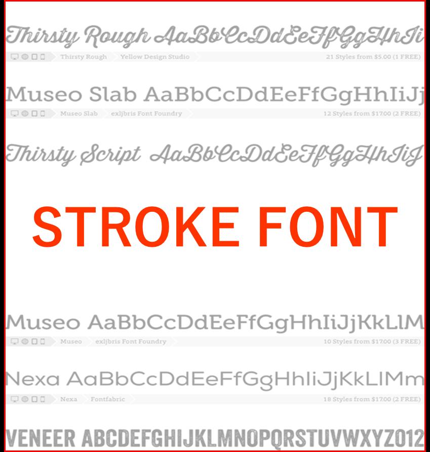レーザーマーカー用ストロークフォント|STROKE FONT